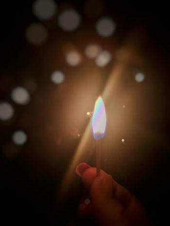 """May the bridges I burn, light the way‼️"". Matches Matches Photography Nails Rainbow🌈 Close-up Cool Yay Night Illuminated Close-up"