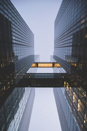EyeEm Selects Skyscraper Architecture Modern City Built Structure Low Angle View Tower Building Exterior Clear Sky Tall No People Outdoors Day Sky Lookup