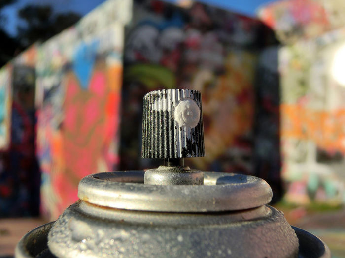 Graffiti Close-up Day Metal No People Nozzle Outdoors Spray Spray Paint