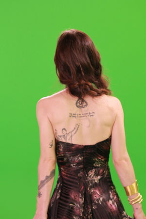 Rear View Only Women One Woman Only Adults Only Mid Adult One Person Colored Background Green Background Studio Shot Human Back Adult People Back Green Color Indoors  One Young Woman Only Evening Gown Young Adult Day Tatoo Tatoogirl EyeEm Gallery EyeEm Best Shots Young Women Young Woman