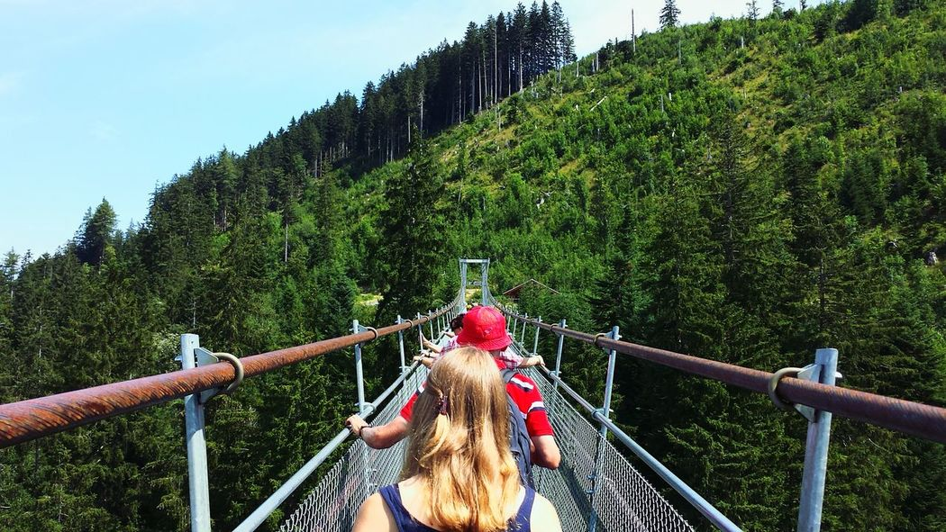 'Raiffeisen Skywalk', the longest foot suspension bridge in Europe (374 metres) RePicture Travel Switzerland Open Edit From My Point Of View Holiday Traveling The Adventure Handbook EyeEm Best Shots Nature The Traveler - 2015 EyeEm Awards