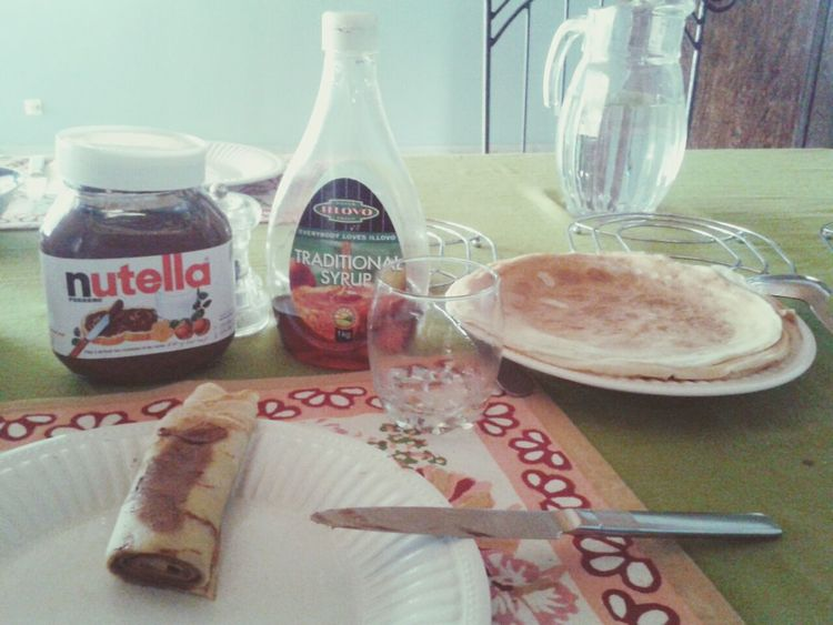 Breakfast Nutella Pancakes Morning