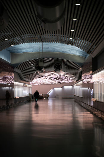 Interior of museum