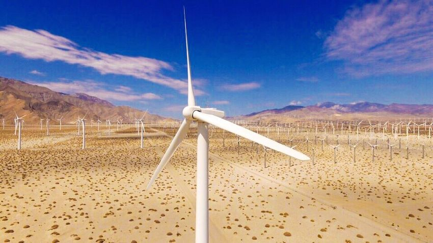 Windmill Up Close Aerial View Aerial Drone Drone  IShootFromMyWheelchair Windmill Farm Wind Farm Wind Turbine Wind Power Palm Springs Coachella Valley Blue Sky EyeEm Best Shots Eyeem Market EyeEm Sky And Clouds Clouds And Sky Outdoors