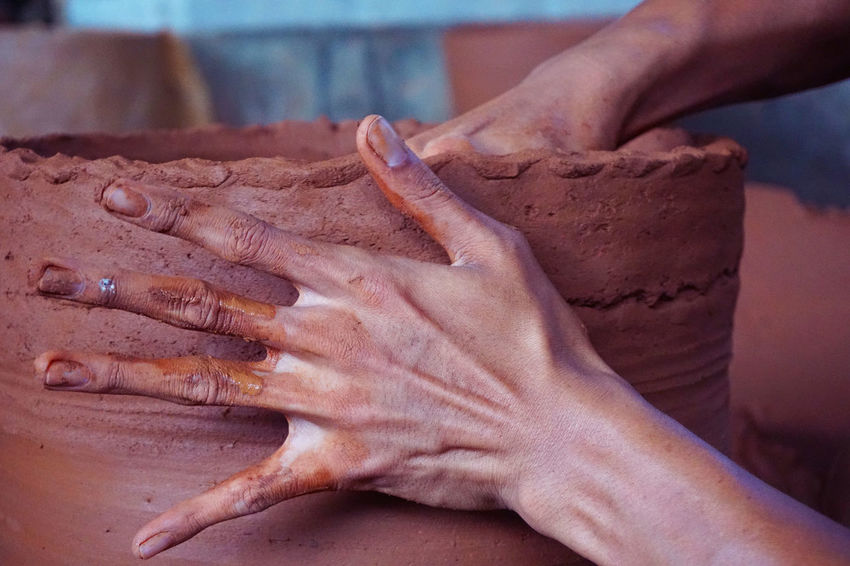 The making of pottery #Amazing #clay Pot #Jogjakarta #pullin #satisfying #skillcrane #Talent #TallShips2016 #ThrowItUp!! Close-up Day Food Food And Drink Freshness Human Body Part Human Finger Human Hand Indoors  Kneading One Person People Preparation  Real People EyeEmNewHere EyeEm Selects