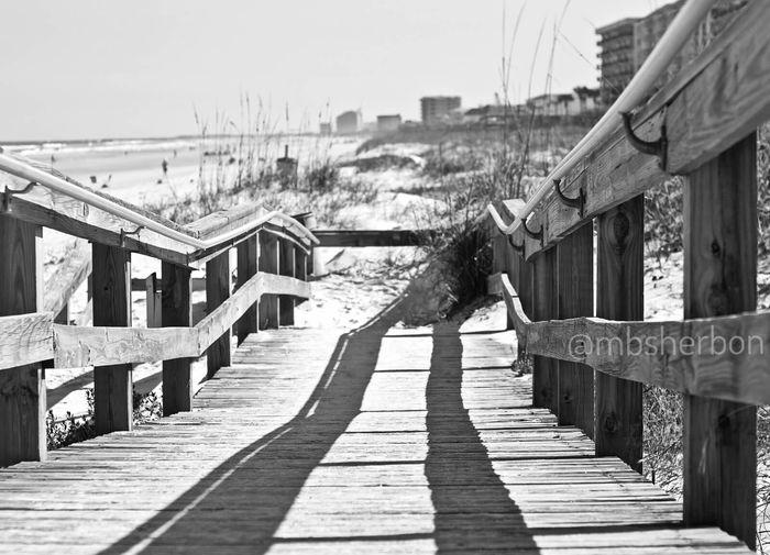 Eye4photography  Beach Florida Dunes Blackandwhite Black And White Naturallight Landscape Travel Pier