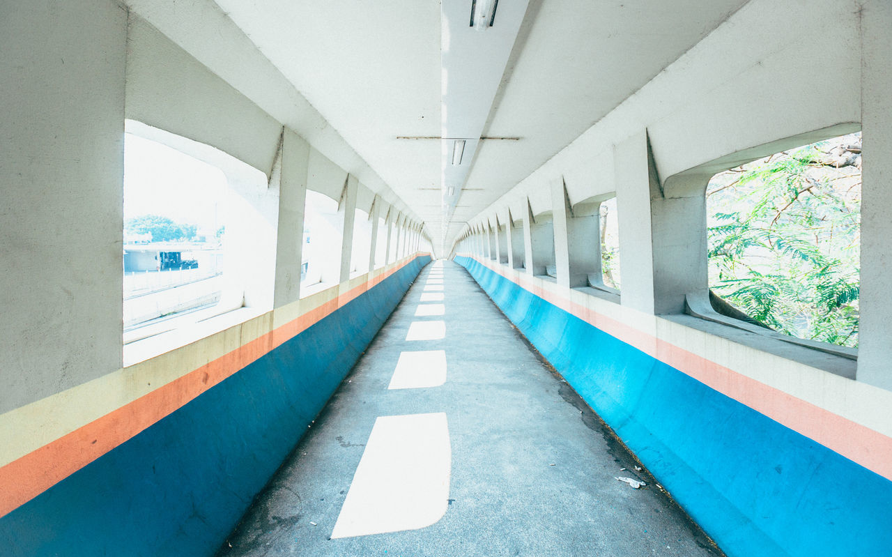 Diminishing perspective of bridge