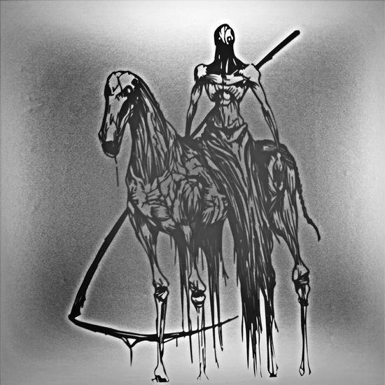 Blackandwhite Draw Death São Paulo