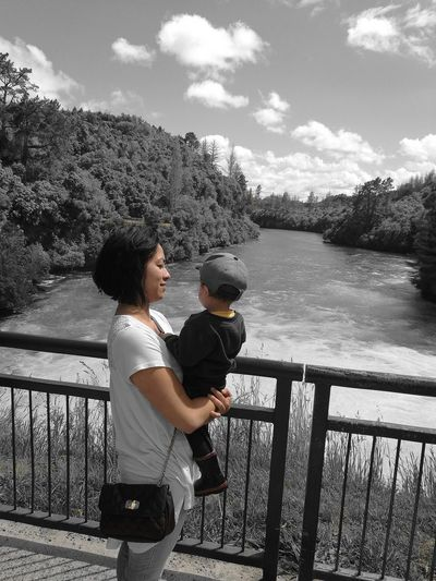 Huka Falls, NZ Two People Togetherness Bonding Beauty In Nature Young Women Outdoors Nature Day