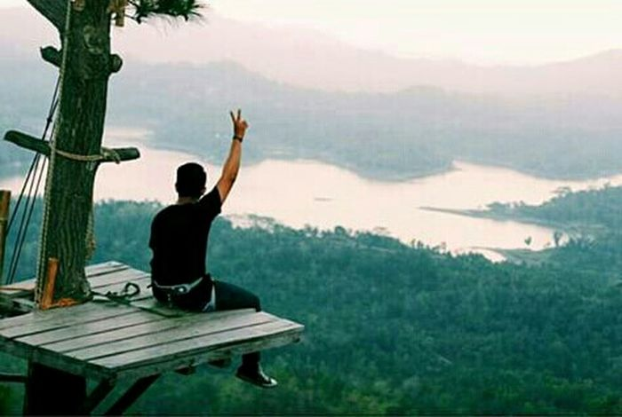 Relaxing Vcom Enjoying Life Having Fun Kalibiru Wonderful Yogyakarta