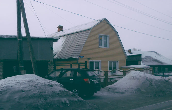 Architecture Automobile Building Exterior Built Structure City City Life Cityscape Clear Sky Cold Temperature Day Extreme Weather House Low Angle View No People Outdoors Russia Sky Snow Street Street Photography Streetphotography Transport Winter Winter Yellow