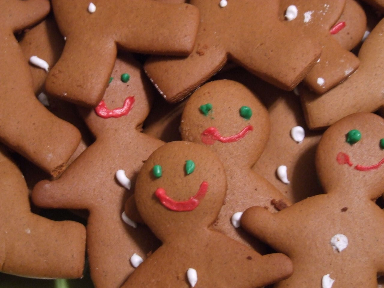High angle view of gingerbreads