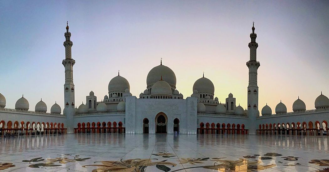 Abu Dhabi 🕌 Travel Photography Dubai UAE Abu Dhabi Mosque Architecture Built Structure Building Exterior Travel Destinations Dome Place Of Worship Sky Religion Travel Building Spirituality Tourism City Belief Outdoors Water Spire  Nature