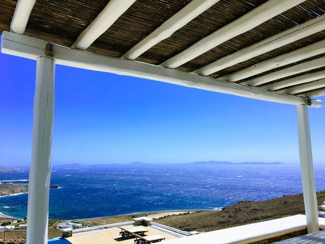 Beauty In Nature Ocean Daylight Ocean View From The Balcony Balcony Island Day Time From My Point Of View Nature Ocean Ocean View Lanscape Mykonos Luxury