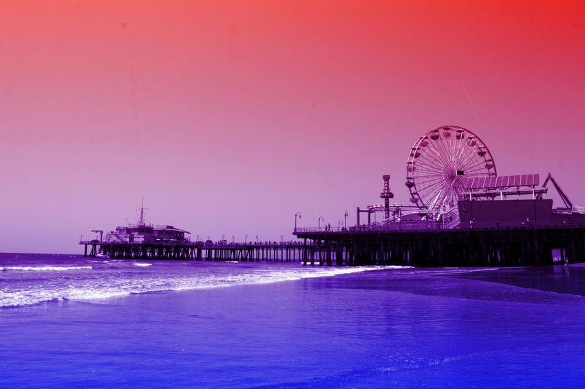 Santa Monica Pier digital art effects by Christine aka stine1 #stopimagetheft Santa Monica Pier Digital Art Digital Art Photo Digital Artist Digital Artwork No People Stop Image Theft