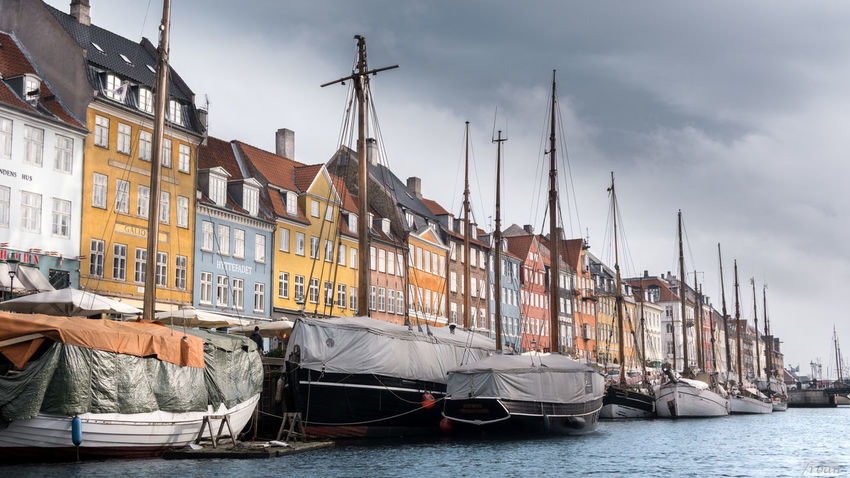 postcard perfect Landscape Betterlandscapes Lightroom Denmark Copenhagen Ship Sail Harbour Colorful Nautical Vessel Outdoors Travel Destinations Day Business Finance And Industry Ship Harbor Sky Water Sailing Ship