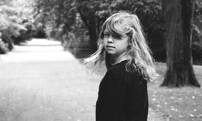 Black And White Portrait Noir Walk