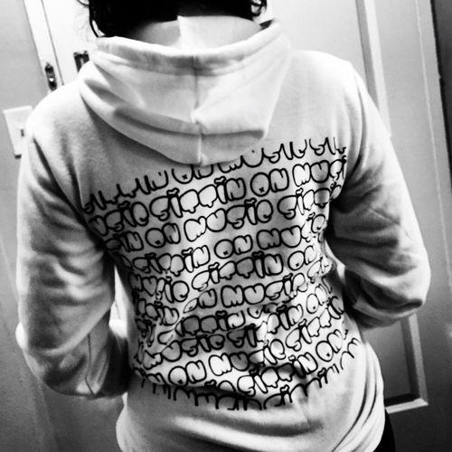SittinOnMusic hoodies Blackandwhite Fashion MyGIRL Hello World