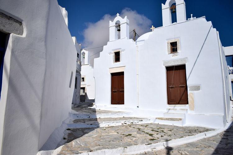Greece Amorgos Church Cyclades Island Architecture Building Exterior Sunlight
