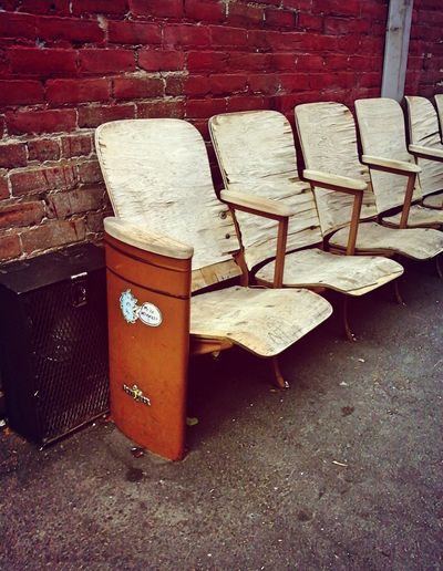 read to seat Urban Escape Repatriation Movie Theatre  Chairs Chairswithstories Old-fashioned Left Behind