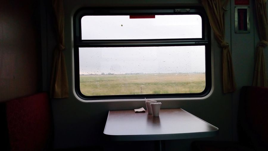 View of train window