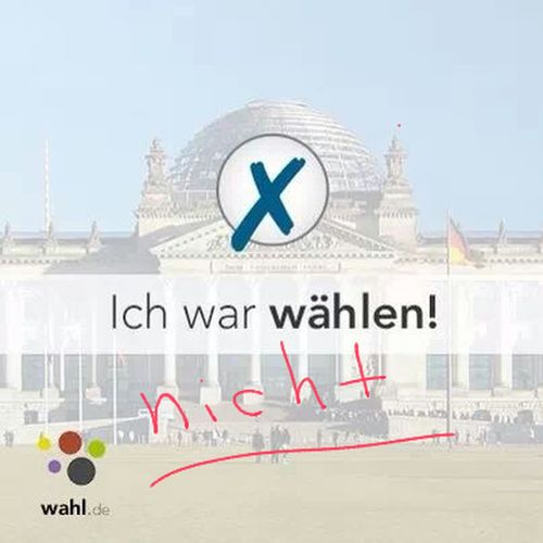 Wahl Bundestagswahl Wahlnein