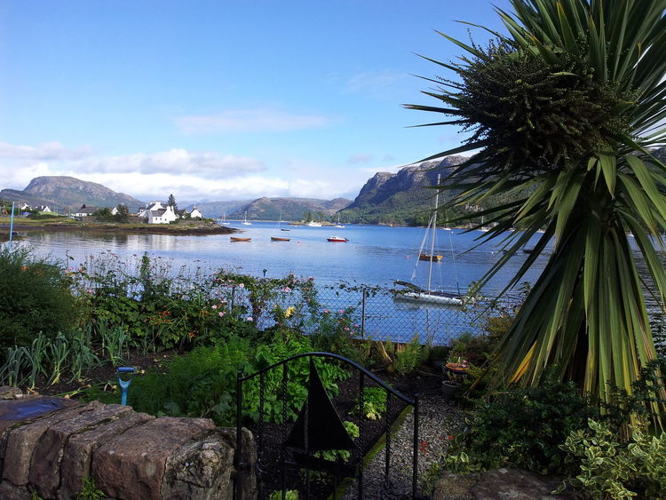 Plockton Landscape Scenery Inlet Sea Plockton West Coast Scotland Picturesque Pretty Village