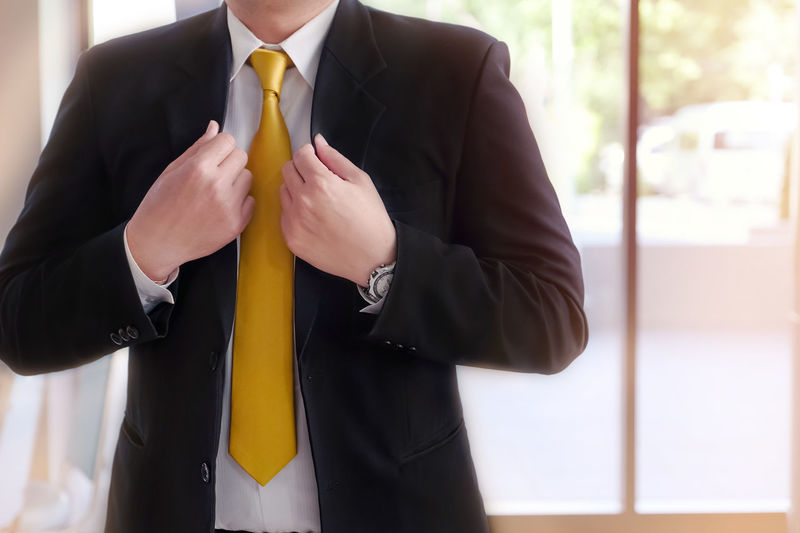 Businessman wearing a suit. Dress Modern Suit And Necktie Advance Attractive Backgrounds Business Business Person Businessman Businessmanagement Chief Corporate Business Front View Full Suit Males  Manager Men Menswear Midsection Necktie Professional Success Successful Suit Well-dressed