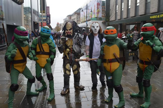 All 5 of my costumes out and about in the city Turtles Teenage Mutant Ninja Turtles  Cosplay EyeEm Best Edits