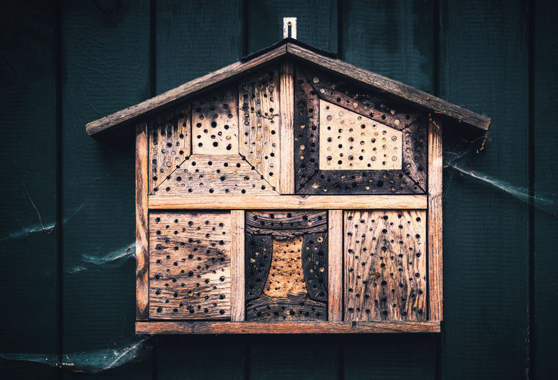 The bee hotel Insect Hotel Architecture Bee Hive Bee Home Bee Hotel Building Building Exterior Built Structure Close-up Closed Day Design Door Entrance Hotel House Insect Home No People Outdoors Pattern Protection Safety Security Window Wood - Material Wooden