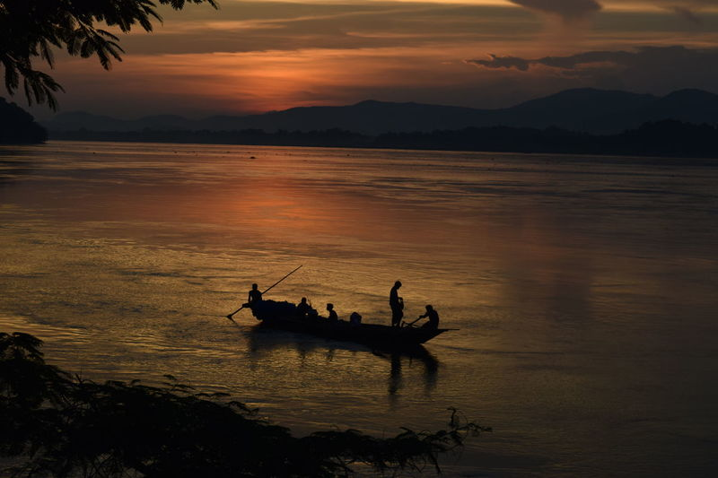 Balance Boat Brahmaputra_ghat Calm Escapism Horizon Over Water Light Outdoors River Silhouette Tranquil Scene Water Weekend Activities