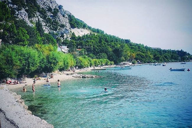The sea (Omiš, Croatia) ❤🌊 Sea Seaside Ocean OceanBeach Oceanside Water Water_captures Beach Beachlife Beachday Mountain Mountains Hills Hill Nature Tree Tree_captures Landscape Landscapelovers Landscape_lovers Landscape_captures Sky Bluesky Summersky Vacation croatia croatia2015 earth_dream