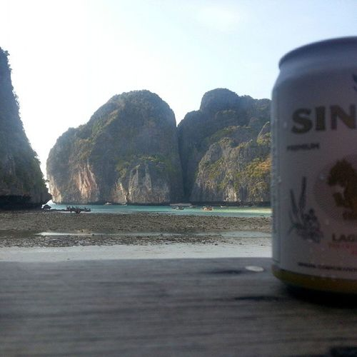 Drank a singha too on 'the beach' Thailand Thebeach SinghaBeer SinghaBeer Globalopportunist