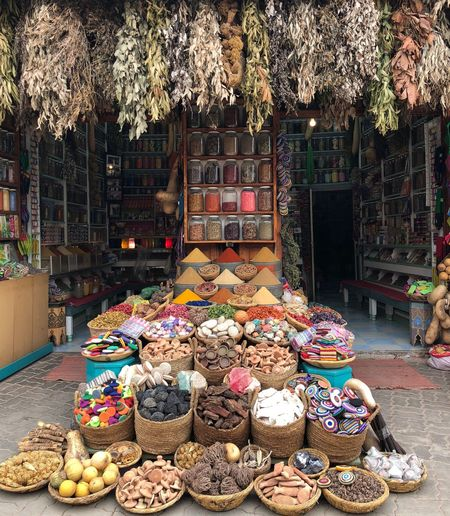 Spices shop Marrakech Marrakech Spices Choice Variation Multi Colored Arrangement Large Group Of Objects For Sale Market Abundance Day No People Small Business Retail  Architecture Art And Craft Built Structure Freshness Market Stall Outdoors Creativity Decoration