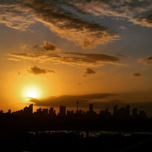 Perfect location to sit and watch time pass... Sunset Sydney DoverHeights Skyline Silhouette DudleyPageReserve RTW Travelling ChasingTheWorld SeeAustralia NSW SkyPorn