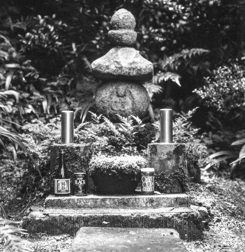 View of buddha statue in cemetery