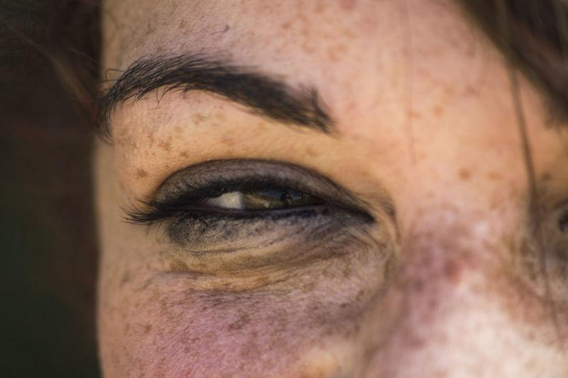 Close-up of woman eye
