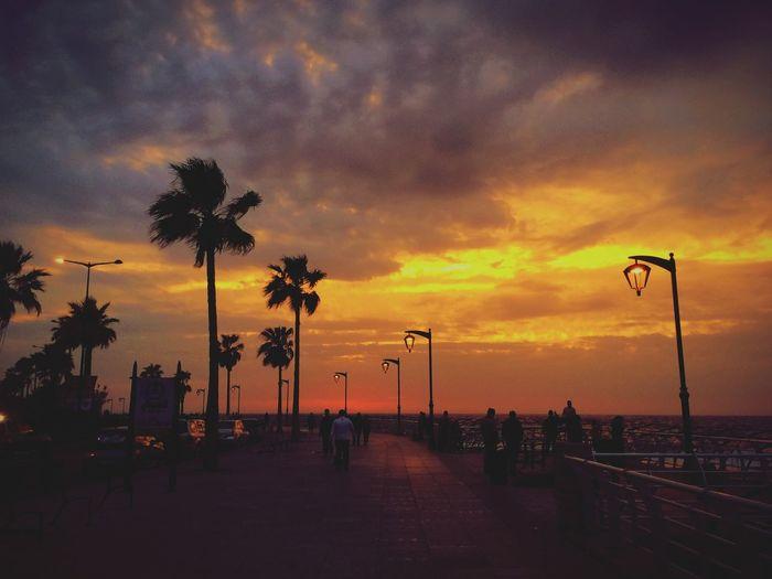 Dramatic sky at sunset
