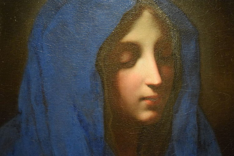 Carlo Dolci, The Blue Madone Oil on Canvas, c.1670. John Ringling acquired this work of art in 1936. Sarasota, FL. 1670 Art Carlo Dolci Florida Headshot Human Face Leisure Activity My Favorite Photo Oil Painting Portrait Ringling Museum Sarasota Sarasota Florida The Blue Madonna