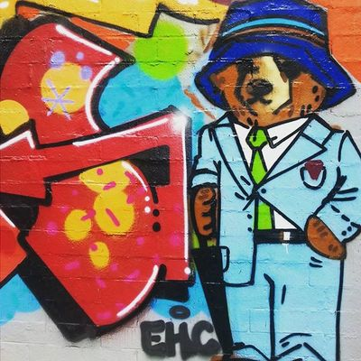 Houston Montrose Gayborhood Westheimer Urbanjungle Mural Streetart Summer2015 Pimppaddington Teddybear Texas TexasArt Bear