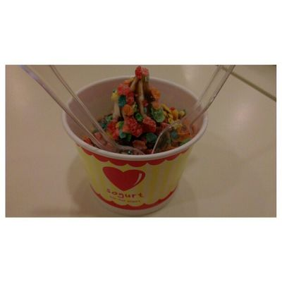 Snacking at out usual place. Sogurt