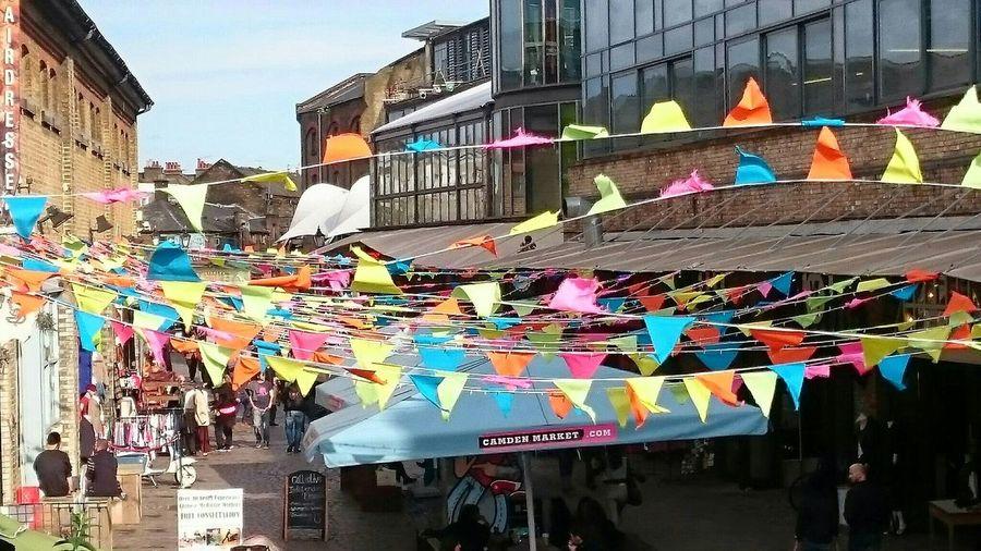 Camden Lock Market Flags Urban Color
