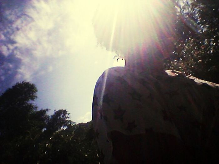 Sol...mato...céu azul! ! Sábado lindo.