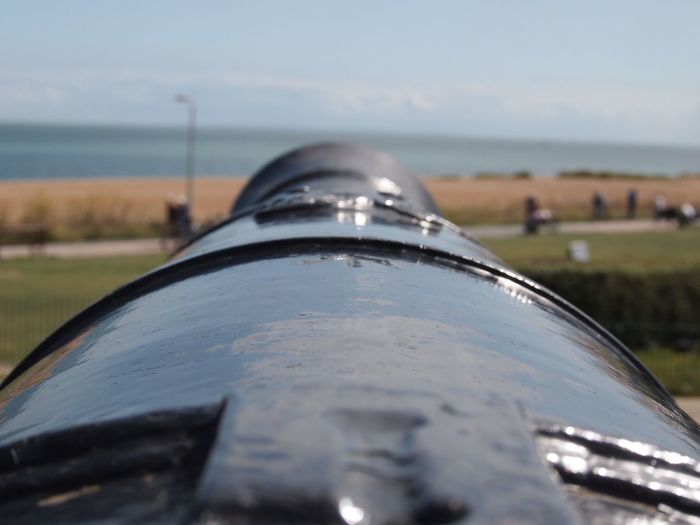 Metal Close-up Weapon Day Focus On Foreground No People History Outdoors Canon Sky Nature Military