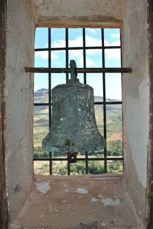 Bell Built Structure Rusty No People Bell Tower Herce Larioja Window Architecture Day Building Exterior Construction Site Outdoors Sky