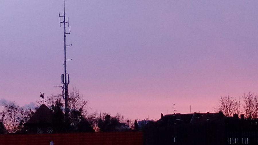 Sun Rise Silhouette Night