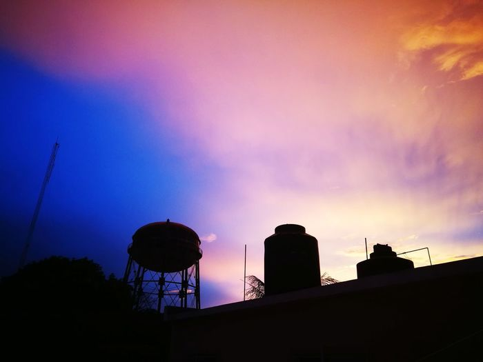 Atardecer City Sunset Silhouette Water Tower - Storage Tank Sky Architecture Building Exterior Built Structure