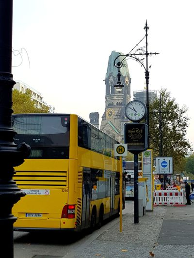 Berlin Bus Bus Station Hard Rock Cafe City City Life Yellow Weekend