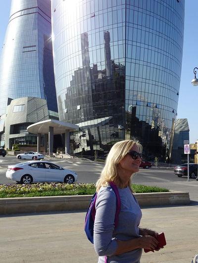 City Cityscape Young Women Skyscraper Women Sky Architecture