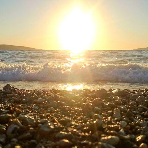 Eski foça sahil gün batımı